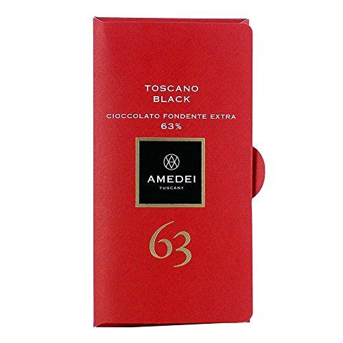 Amedei Toscano Black 63% Cioccolato fondente extra - dunkle Schokolade lezithinfrei