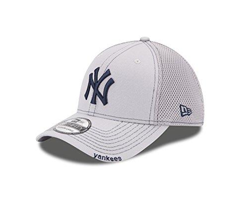 New Era MLB NEO 39Thirty Stretch Fit Cap, Gray, Large/X-Large