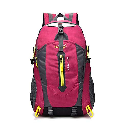 DADZSD wasserdichte Kletterrucksack Rucksack 36-55L Outdoor Sporttasche Reiserucksack Camping Wandern Rucksack Frauen Trekking Tasche Für Männer-Rose rot_34 * 20 * 52