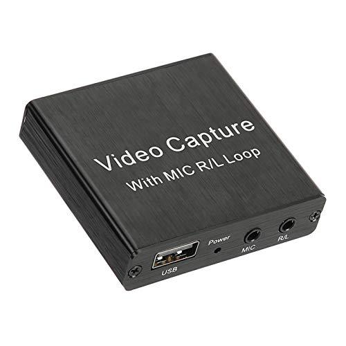 Sxhlseller Tarjeta de Captura de Video, USB2.0 HDMI Loop out Compatible con Equipos Electrónicos 4K 0.4A / 5V DC para VLC/OBS/Amcap/Windows/Android/OS X