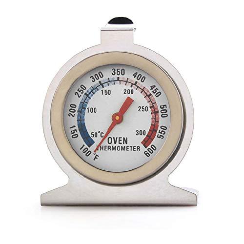 Leeofty Backofenthermometer 300 Grad Edelstahl Rostfrei zum Aufhängen und hinstellen Backofen Thermometer Grillthermometer zum Messen der Innentemperatur