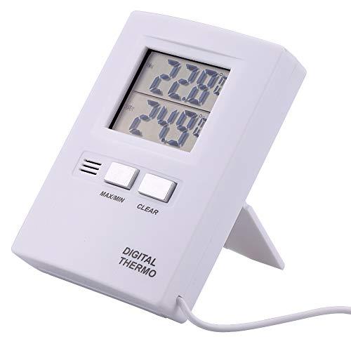 Thermomètre numérique, LCD haute précision Thermomètre numérique intérieur et extérieur Thermomètre Testeur alimenté par batterie