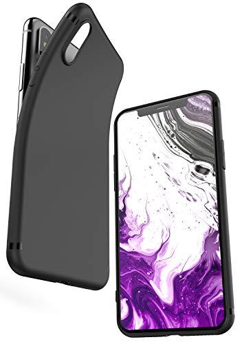 COVERbasics Cover Compatibile con iPhone XS (Slimmy) Custodia Nera in Silicone TPU Opaco Sottile Slim con Protezione Fotocamera