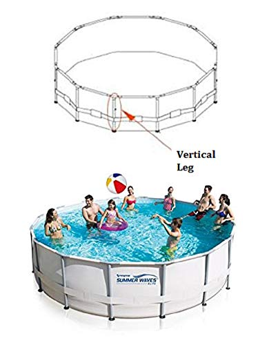 "Summer Waves Elite Vertical Leg for 14' X 42"", 15' X 42"", 16' X 42"" Metal Frame Round Pools -  Poly Group, P5A2C0003E06"