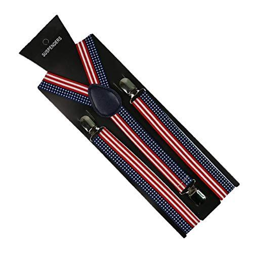 YMXBSBD Hosenträger 2.5 cm Breite Muster Hosenträger Unisex-Hosenträger Mit Clip Elastische. Schmale Hosenträger Mit Y-Rücken