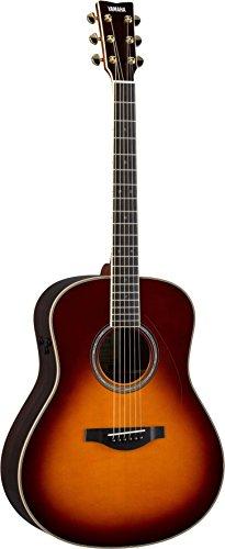 Yamaha L-Series Transacoustic Guitar with Hard Gig Bag- Dreadnought, Brown Sunburst