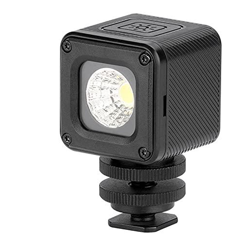 skrskr Versatile Impermeabile Dimmerabile Mini Video Light 5500K Luce di riempimento fotografico CRI 95 con 20 filtri colorati per GoPro 7/6/5 compatibile con DJI Drones Supporto tascabile Osmo Diving