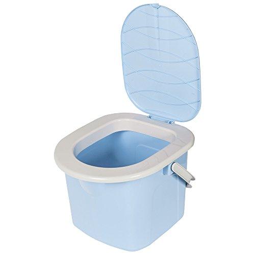 BRANQ Toilette Portatile Secchio 15,5L Campeggio Gita Fuori Citta (Azzurro)