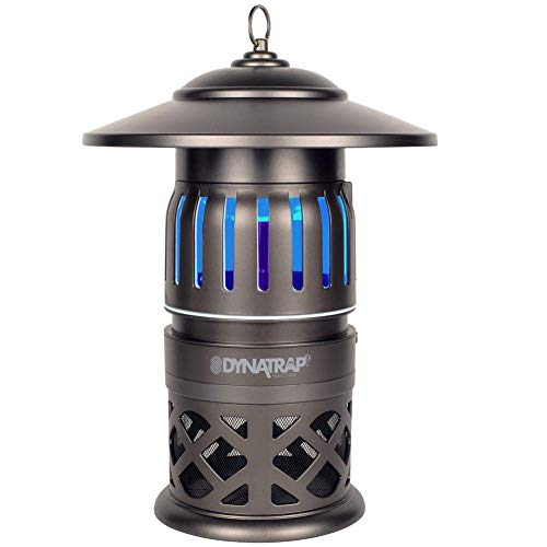 DynaTrap 1/2 Acre Insect and Mosquito Trap - Includes Two Bonus UV Bulbs and Hanging Chain