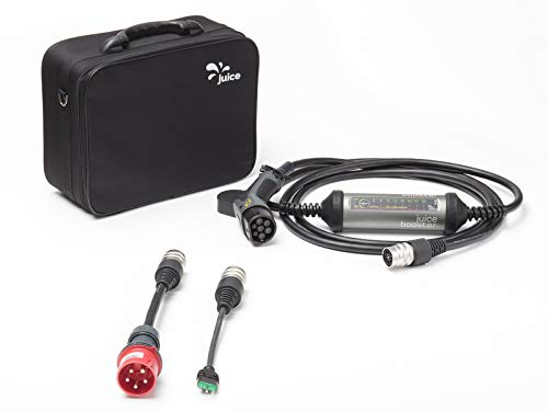 Preisvergleich Produktbild Juice Booster 2 Mobile Wallbox Elektroauto - 32A 3-Phasig,  1-Phasig Ladekabel Typ2 / Basic Set inkl. Adapter CEE32 und Typ L (IT)
