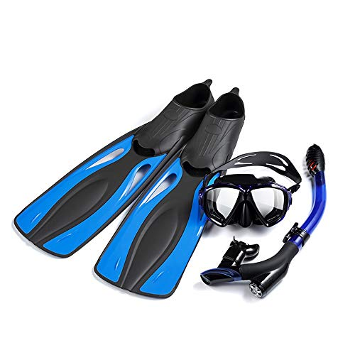 YIN YIN Flosse Flossen - Tauchen Schwimmen dreiteiligen Anzug Anti-Fog-Brille voll trocken Schnorchel Lange Flossen Outdoor-Tauchen Flossen Tiefwasser-Tauchausrüstung Knöchel (Size : XXL)