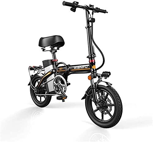 Bicicleta electrica Bicicletas eléctricas rápidas para adultos Ruedas de 14 pulgadas Marco de aleación de aluminio Seguridad de bicicleta eléctrica portátil para adulto con batería de litio de 48V ext