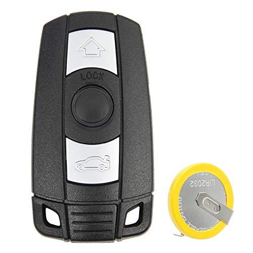 Auto Schluessel Autoschluessel Klappschluessel Schluesselgehaeuse Ersatz mit 3 Tasten Funk Smartkey Key Fernbedienung Funkschluessel Austausch Gehaeuse mit LIR2025 Batterie Akku Schwarz