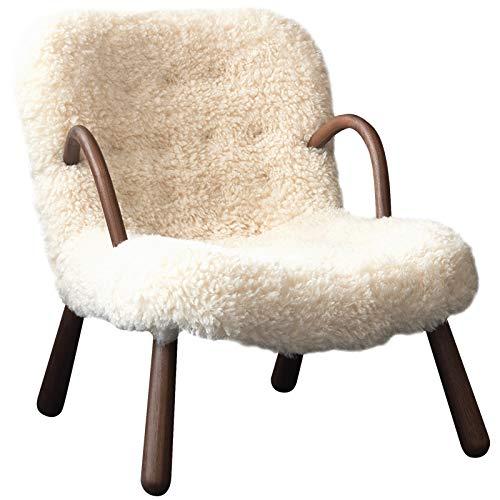 QZ-ICZY Silla de salón peludas de Madera Maciza, Lindo solayos Perezosos Silla de sofá de Lujo Silla giratoria de Lujo Ocio High High Sleit Silla Recepción Recepcion,Chair