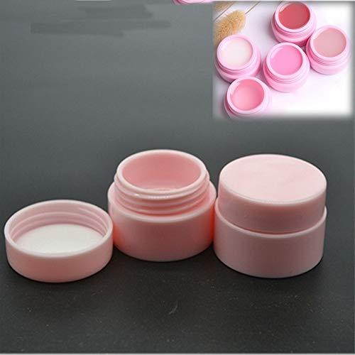 Lot de 10 pots vides en plastique de 5 g pour produits cosmétiques, nail art, gel, poudre, perles - Rose