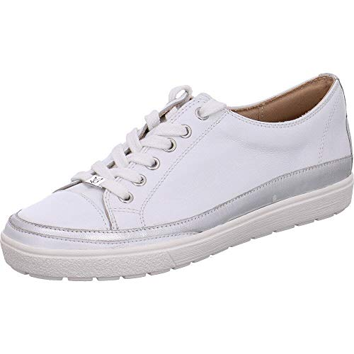 CAPRICE 23654-22 - Zapatillas deportivas con cordones para mujer, color Blanco, talla 38 EU