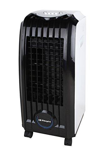Orbegozo AIR 45 - Climatizador evaporativo 3 en 1, 3 velocidades, aletas direccionales, depósito de 4 l, filtro extraíble, 60 W