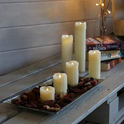Festive Lights 6erPack, batteriebetriebene Echt-Wachs Kerzen, täuschend echter Flacker-Effekt