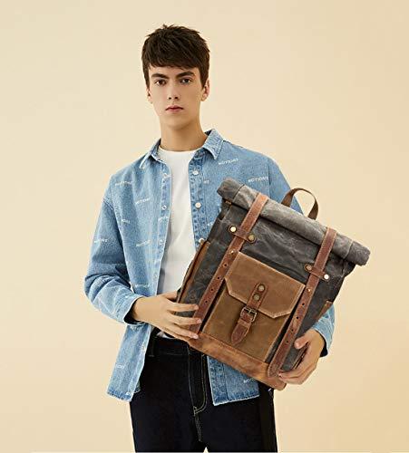 41eRsaQHHfL - FANDARE Moda Impermeable Bolso de Escuela Viaje Mochila Hombres 15.6 Pulgadas Laptop Backpack Outdoor Camping Gran…