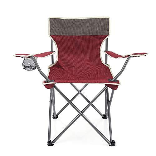XIAOHE Chaise de Camping Pliante, Chaise de Sac à Dos Ultra-compacte et Portable avec Sac fourre-Tout, Poche et Dossier, Randonneur Sportif en Plein air,Red
