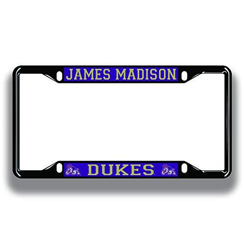 Elite Fan Shop James Madison Dukes License Plate Frame Black