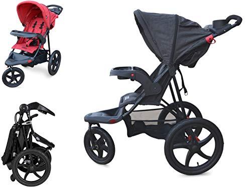 Papilioshop Rebel Silla de Paseo Cochecito para niño y bebé 3 Ruedas (Negro)