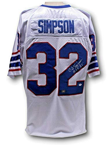 OJ Simpson Signed Autographed Custom Jersey Buffalo Bills PSA/DNA AG51721