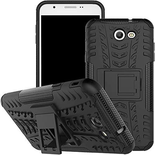 """Capa Capinha Anti Impacto Para Samsung Galaxy J7 Prime com Tela de 5.5"""" polegadas Case Armadura Hybrid Reforçada Com Desenho De Pneu - Danet (Preta)"""