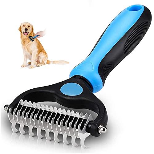 Unterfellbürste Hund Hundebürste Katzenbürste für langhaar,Unterwollkamm entfernt Unterwolle kamm & Verfilzungen, Dog pet cat Brush pro Grooming Tool,Massageffekt & Deckhaarschutz