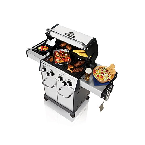 Broil King 922584 Baron S490 Gas Grill, 4-Burner, Stainless Steel