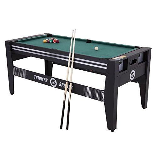 TRIUMPH SPORTS 72' 4 in 1 Multi-Game Swivel Table