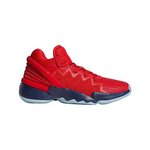 adidas D.O.N. Issue 2, Zapatillas de Baloncesto Unisex Adulto, Escarl/NAVBLU/Dormet, 40 2/3 EU