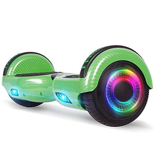 Huanhui Hoverboard, 6,5 Pouces Self Balancing Electric Scooter avec la Norme Certification, Hoverboards pour Enfants et Adultes, Super Cadeaux
