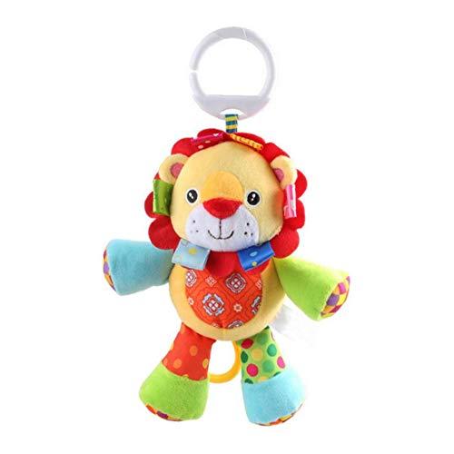 Bebé Musical Cuna Cochecito Juguetes campanilla calmante juguete lindo animal del traqueteo de la muñeca rellena para bebés y niños pequeños niños Cuna SQUEAKER Juguetes 1Pc León niños juguetes