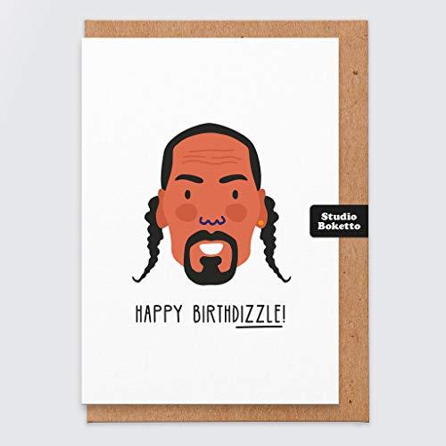 Snoop Dogg Geburtstagskarte – Lustige Geburtstagskarte – Rapper – Hip-Hop-Karte – Geburtstagskarte für den besten Freund/die beste Freundin – Snoop-Dogg – Für Musikliebhaber – Pop-Kultur-Grußkarte