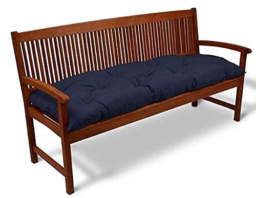 Cojín de banco reclinable portátil, cojín de respaldo bajo acolchado para banco de jardín, almohadilla gruesa para tumbona de respaldo alto para cojines de asiento de relajación en interiores y exter