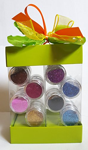 NEW Nail Art Poudre Paillettes et Glitter Set cadeau en différentes couleurs 24 petites boîtes pour fête des mères/anniversaire/Saint-Valentin/cadeau Noël Design Paillettes pour Ongles Vernis Nail Pen Lot d'accessoires