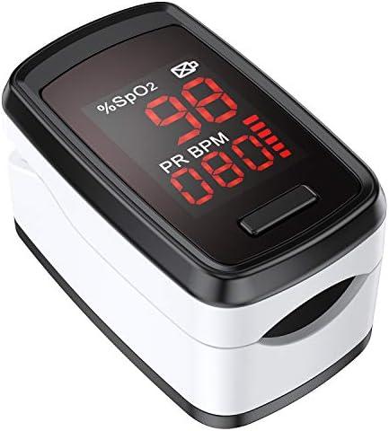 Oxímetro de Pulso, AGPTEK Pulsioxímetro de Dedo Digital con Pantalla OLED para Medición de SpO2, Lectura Instantánea, Negro