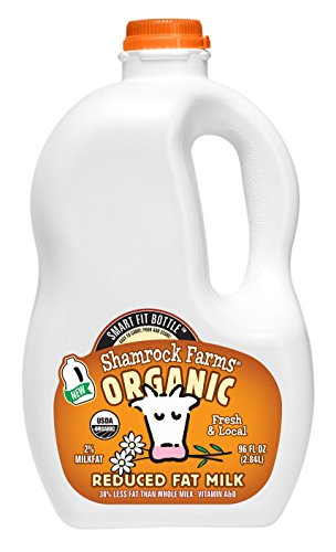 Shamrock Dairy, Milk Reduced Fat Organic, 96 Fl Oz