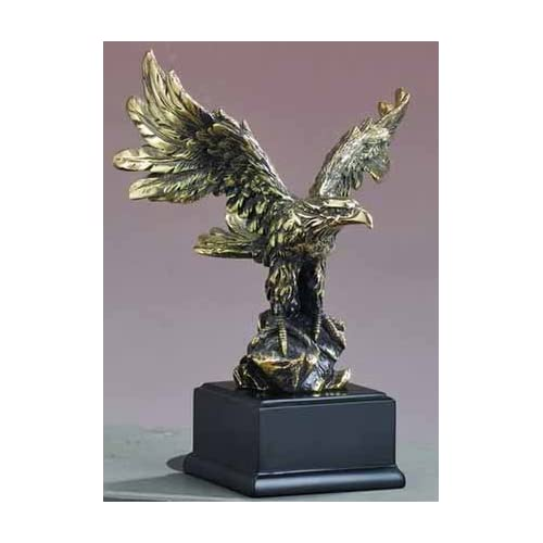 Brass American Eagle Sculpture 6 Inch