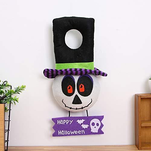 JIUJ Halloween-Dekorationen Hexe Kürbis Totenkopf Kopf Türklopfer Kreatives Festival C Door Knocker