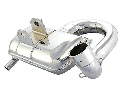 Auspuff SIP ROAD 2.0 Stahl, chrom, breitreifentauglich, großer Krümmer für VESPA PX200 E Lusso/EFL/ Arcobaleno/Elestart 200 VSX1T 2T AC 83-97
