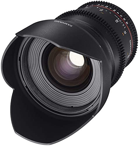 Samyang 24/1,5 Objektiv Video DSLR II Sony E manueller Fokus Videoobjektiv 0,8 Zahnkranz Gear, Weitwinkelobjektiv schwarz
