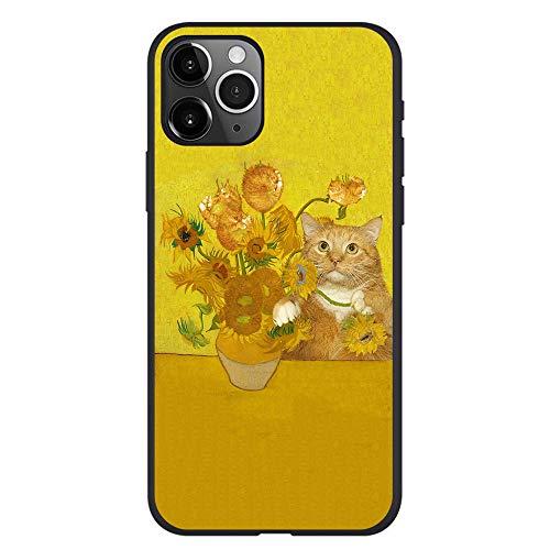 APHT Animale Cat Gatto Custodia per Telefono Arancione con Pittura a Olio di Arte for iPhone 5s / iPhone 5 /SE -11 PRO Max
