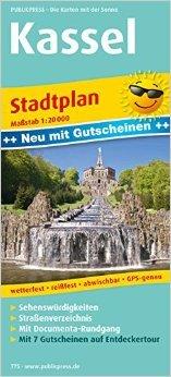 Stadtplan Kassel: mit Gutscheinen, Sehenswürdigkeiten, Straßenverzeichnis & documenta-Rundgang, wetterfest, reißfest, abwischbar, GPS-genau. 1:20 000 ( Folded Map, 2. Juli 2015 )