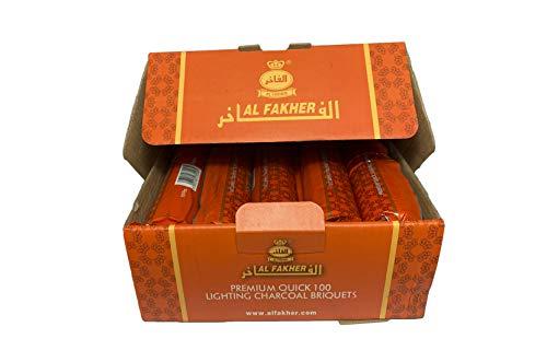 Al Fakher Chicha CHARBON DE BOIS Auto-Allumant Paquet de 10 tubes - 100 charbons