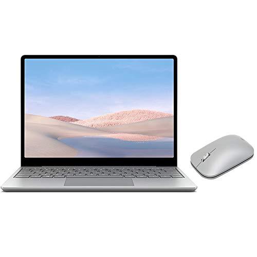 Microsoft Surface Laptop Go 12.4' Touchscreen Laptop PC, Intel Quad-Core i5-1035G1, 4GB RAM, 64GB eMMC, Webcam, Win 10, Bluetooth, Online Class Ready, w/Mobile Mouse - Platinum