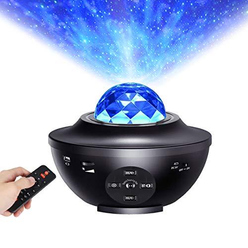 Projecteur étoile de nuit, ALED LIGHT Veilleuse LED Étoile Intégré Bluetooth Haut-Parleur Capteur de Son Contrôle Avec Télécommande, Lampe de Projection pour Bébé Enfants Chambre Décoration Maison