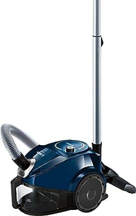 Bosch BGC3U130 - Aspiradora (600 W, 28 kWh, Aspiradora cilíndrica, Sin bolsa), color azul