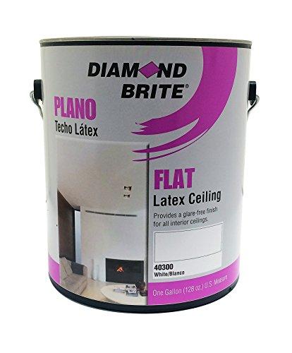 Diamond Brite Paint 40300 1-Gallon Interior Latex Flat Acrylic Vinyl Ceiling White Paint